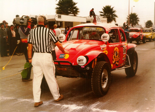 Baja Bug at start line